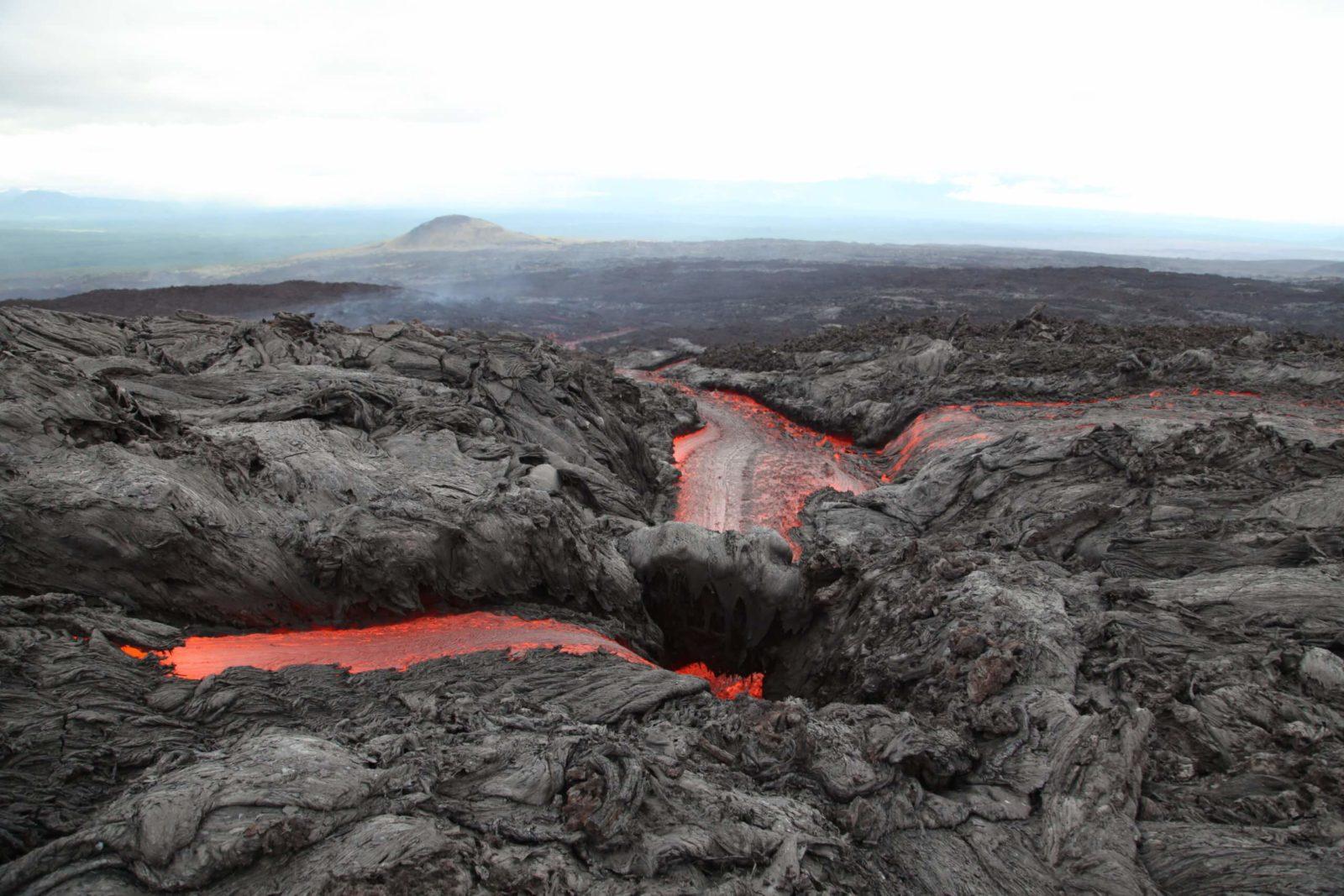 К вулкану Плоский Толбачик